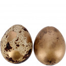 Quail egg natural, 2 colors, H3cm, natural gold